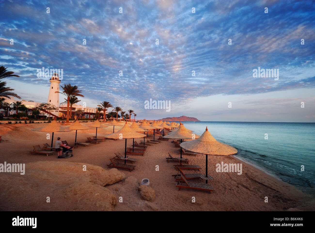 beautiful beach and ocean in sharm el sheikh egypt - Stock Image