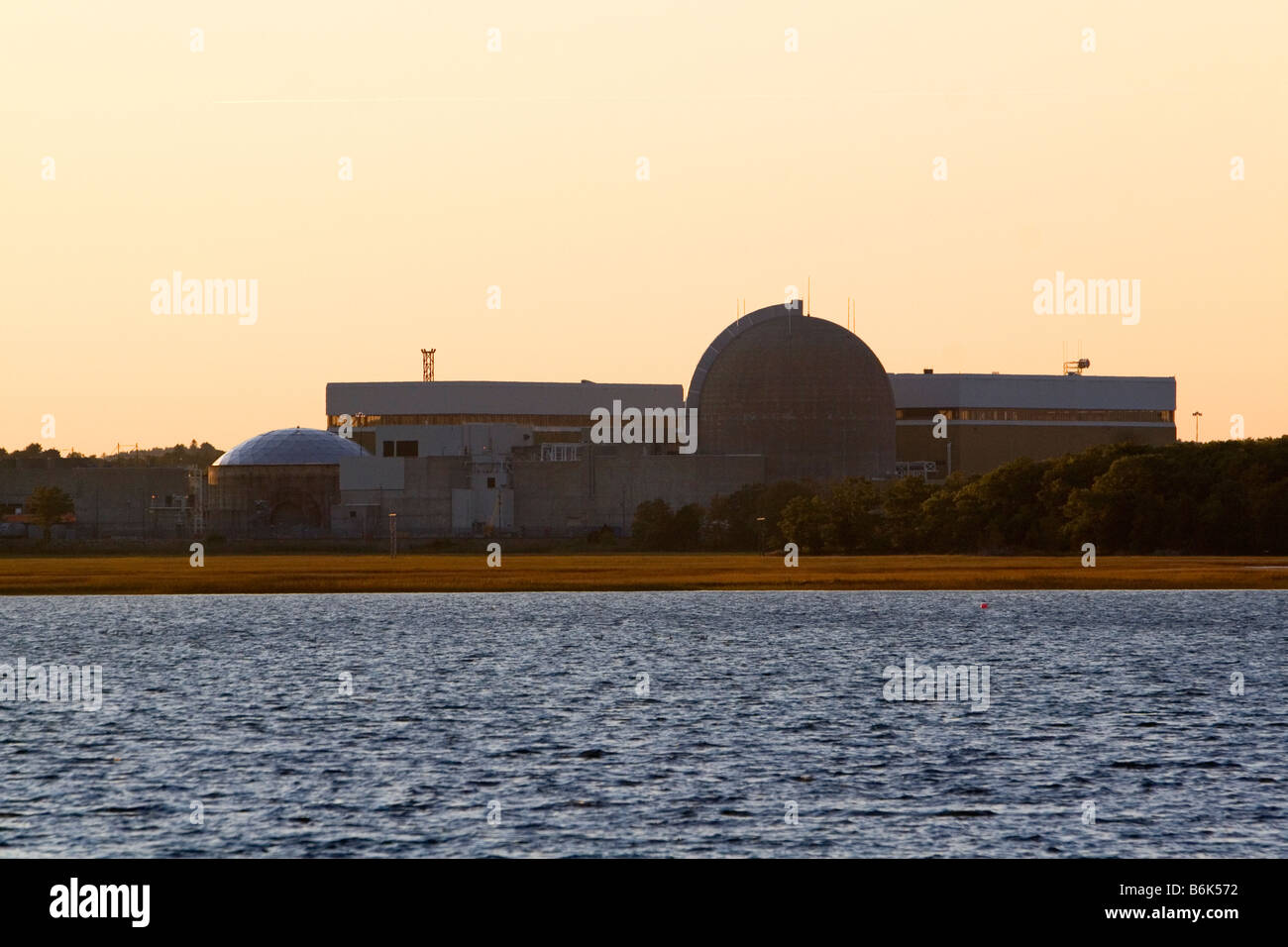 Seabrook Nuclear Power Plant located in Seabrook New Hampshire USA - Stock Image
