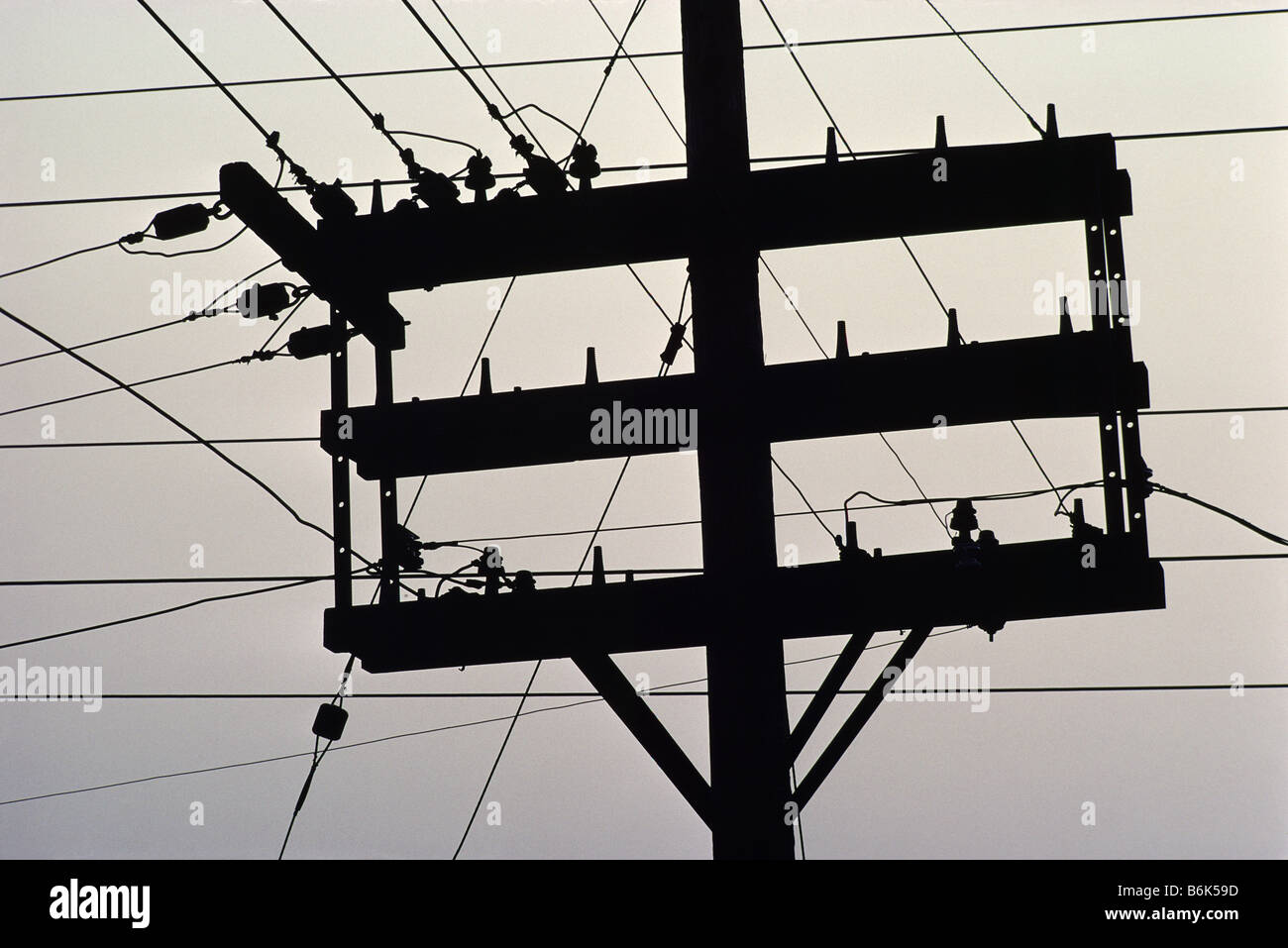 old telephone pole and wire stock photo 21319577 alamy Telephone Wall Jack Wiring Diagram old telephone pole and wire