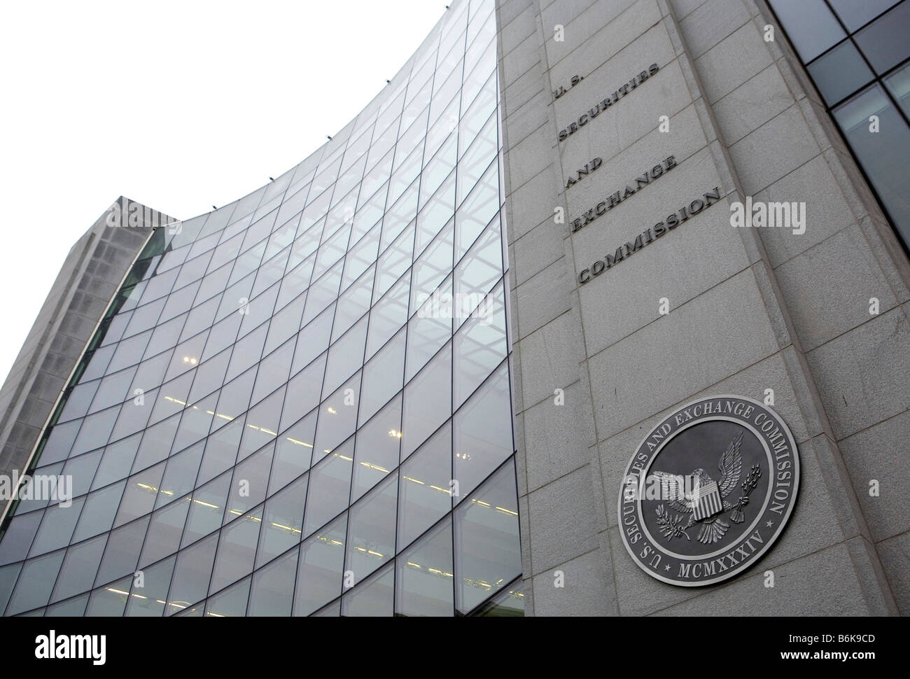 19 December 2008 Washington D C The headquarters of the Securities and Exchange Commission - Stock Image