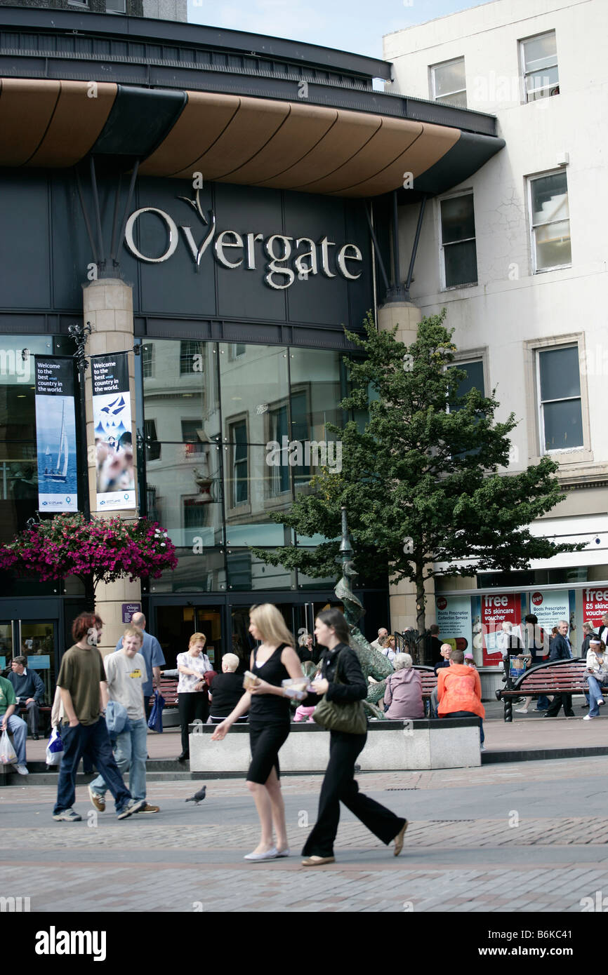 City of Dundee, Scotland. The High Street entrance to the Overgate Shopping Centre in Dundee city centre. - Stock Image