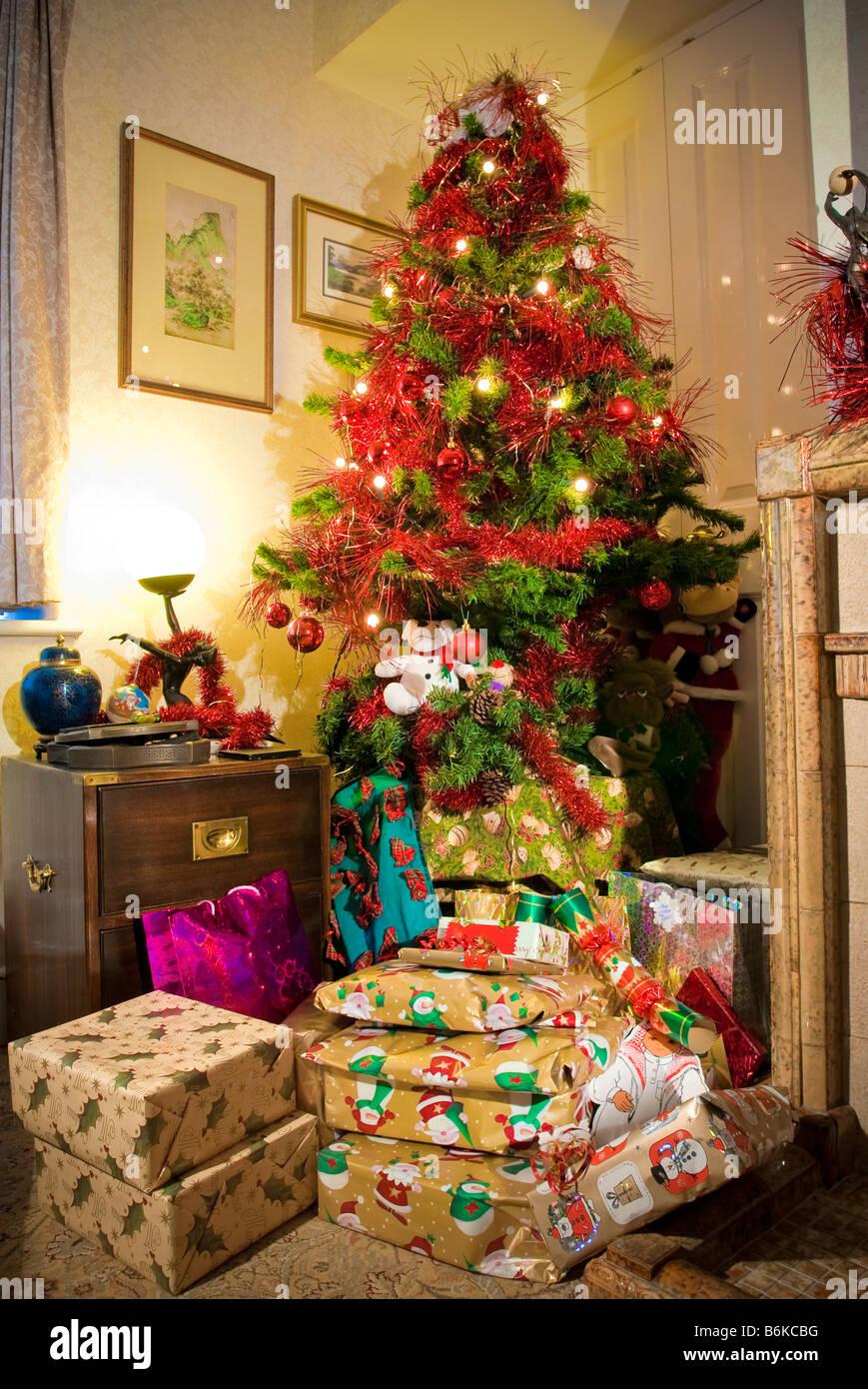 Christmas presents under the tree Stock Photo: 21325124 - Alamy