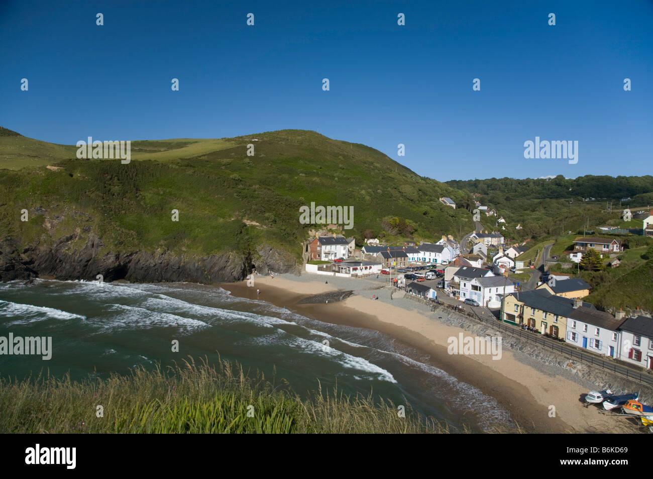 Llangrannog Beach Cardiganshire Cardigan bay Wales UK - Stock Image