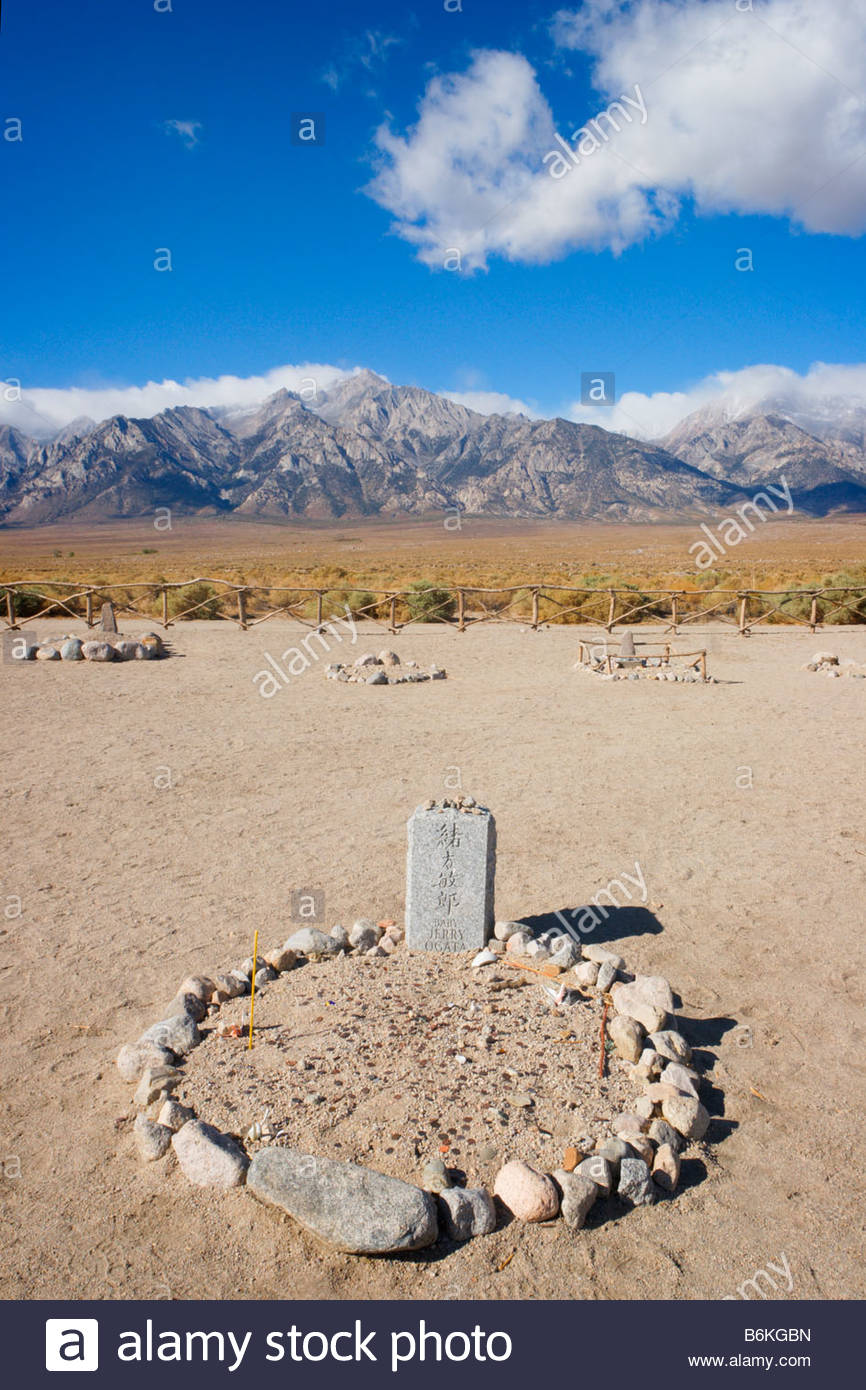 Cemetery Manzanar National Historic Site Independence California - Stock Image