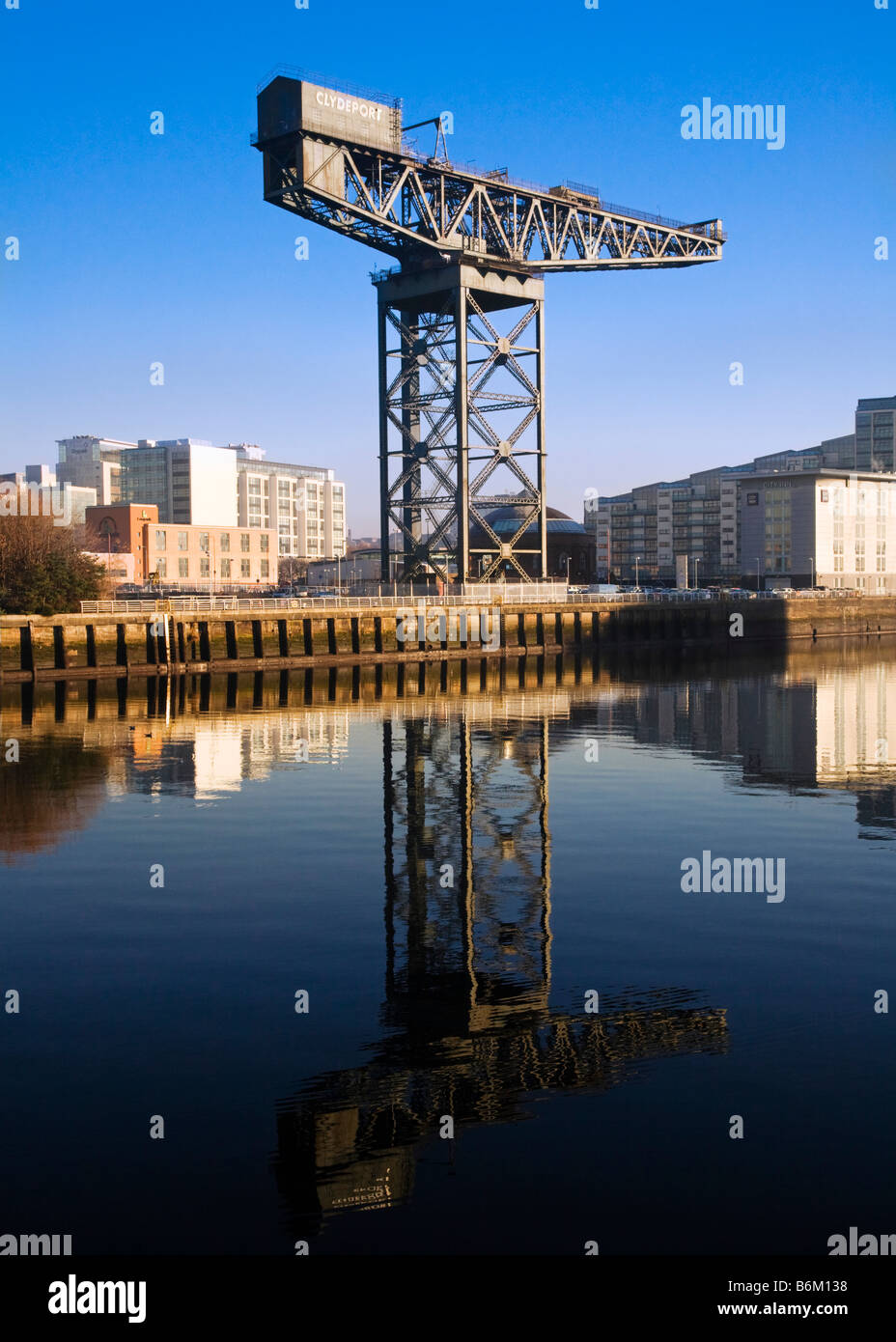 The Finnieston Crane on the River Clyde, Glasgow, Scotland. - Stock Image
