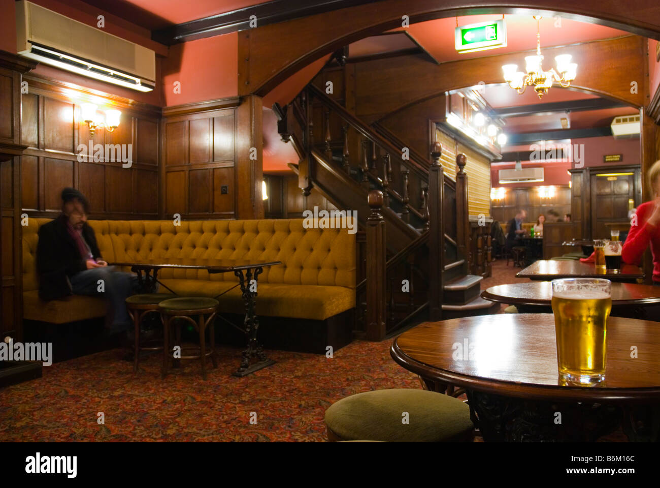 The Red Lion pub in Kingley Street in Soho in central London England UK - Stock Image