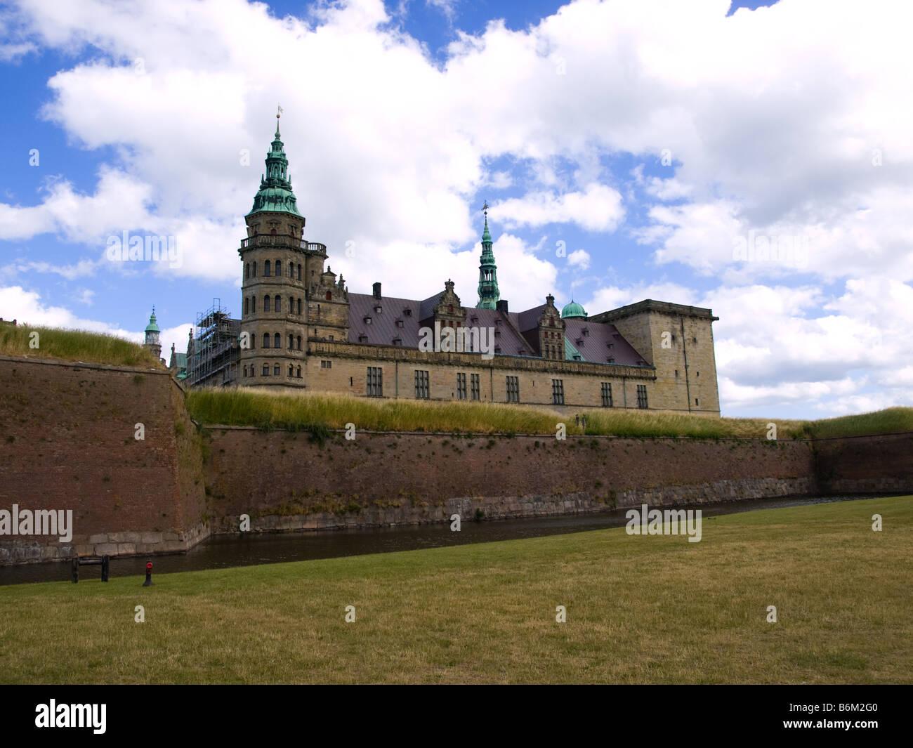 Kronborg Slot, the Hamlet Castle, in Helsingør, Denmark. - Stock Image