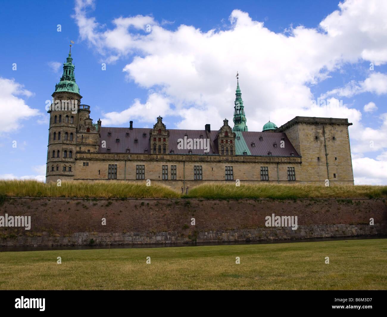 Kronborg Slot, the Hamlet Castle, in Helsingør, Denmark. Stock Photo