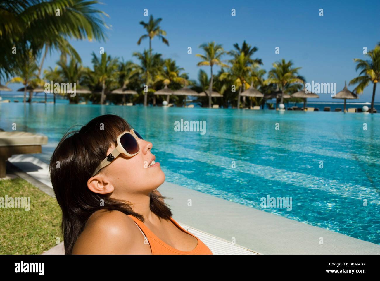 Hotel Dinarobin in Le Morne MAURITIUS ISLAND Stock Photo