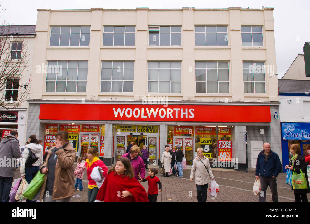 This Woolworths store opened in 1923 Aberdare South Wales UK as with others in the group it is in the process ofStock Photo