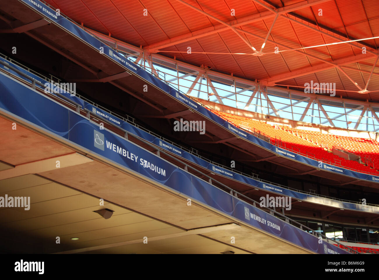 new wembley stadium tiers from low vantage point number 2701 - Stock Image
