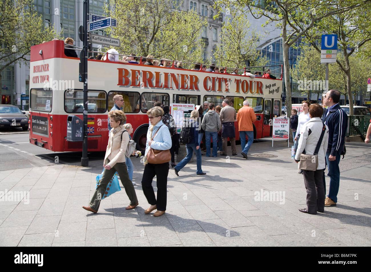 Berlin Sightseeing Bus Germany - Stock Image
