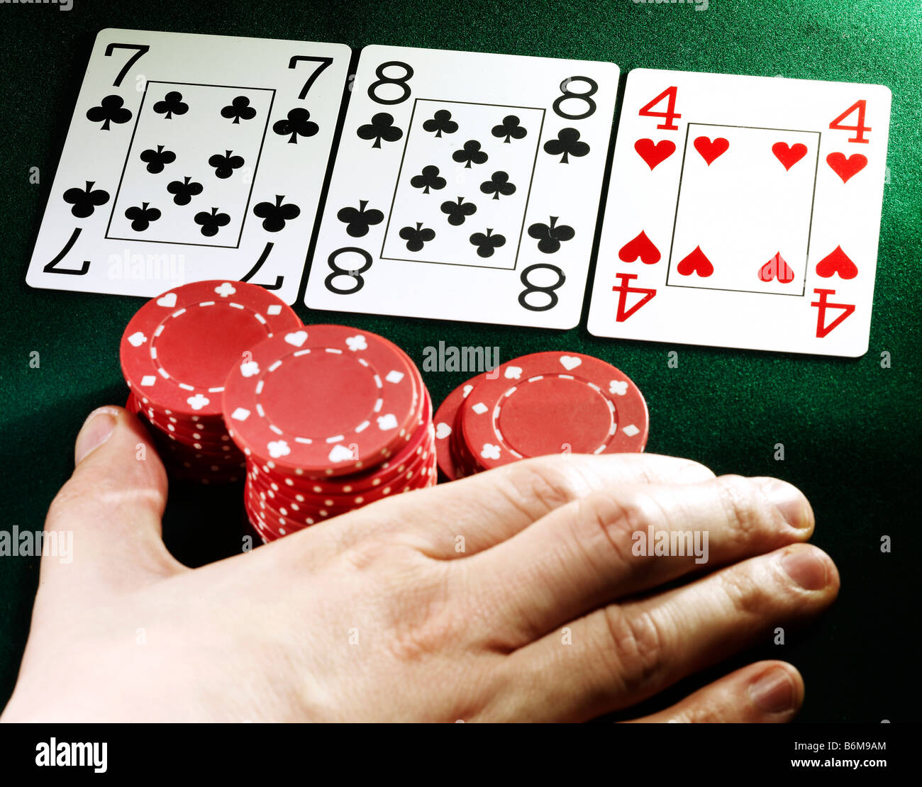 poker hand - Stock Image