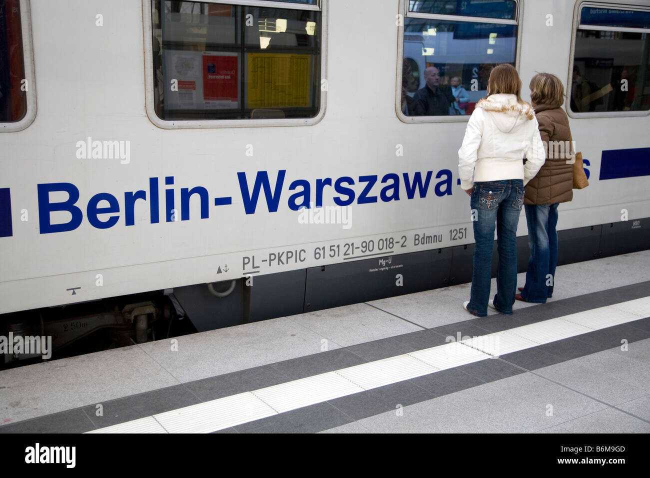 Berlin-Warschau-Express Train - Stock Image