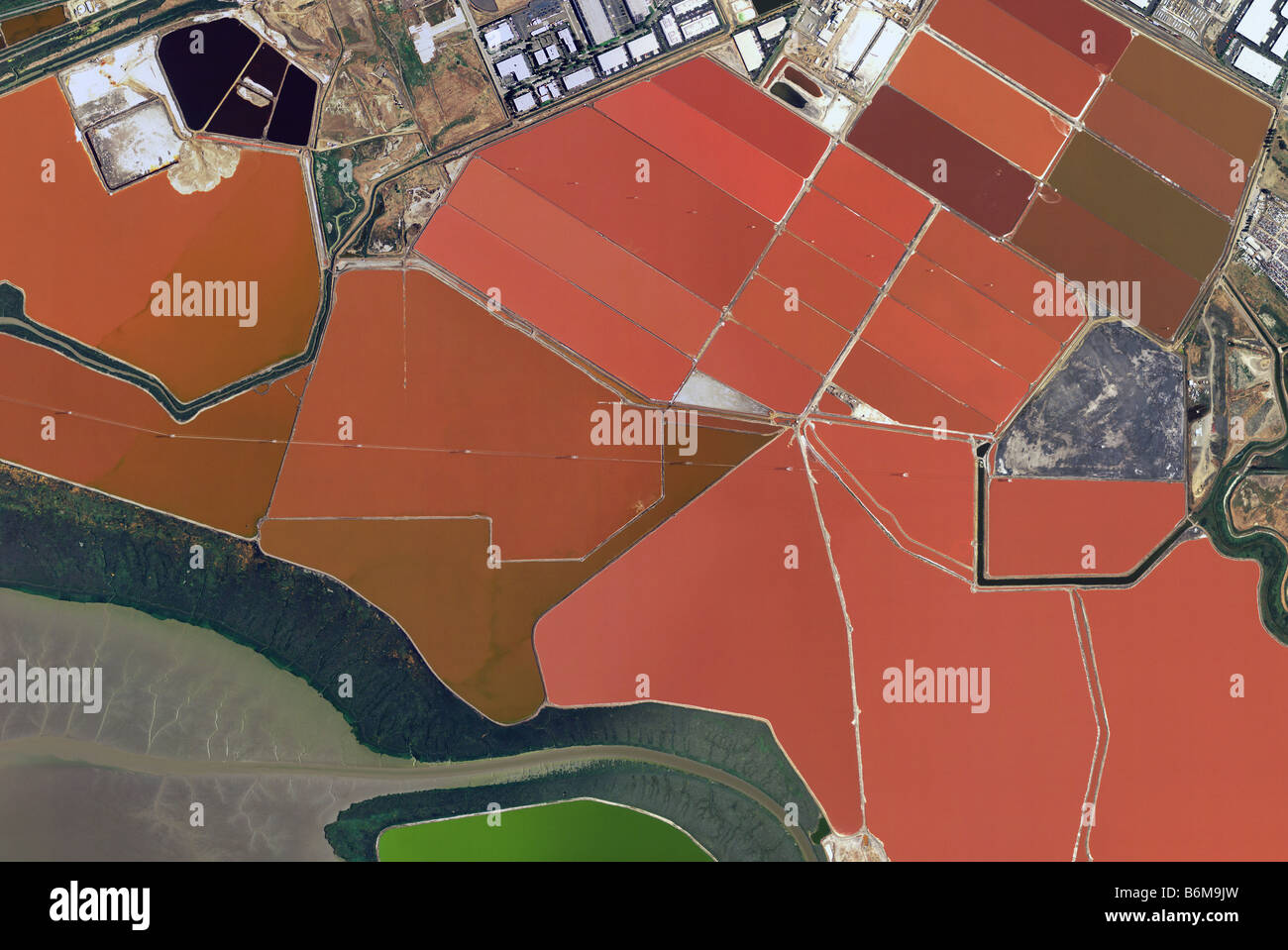 Aerial Map Of Cargill Newark California Salt Ponds San Francisco Bay