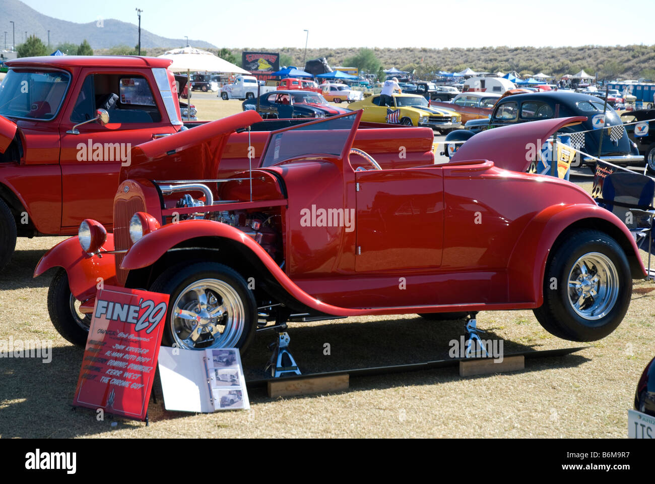 An old hot rod on display at a car show Stock Photo: 21345051 - Alamy