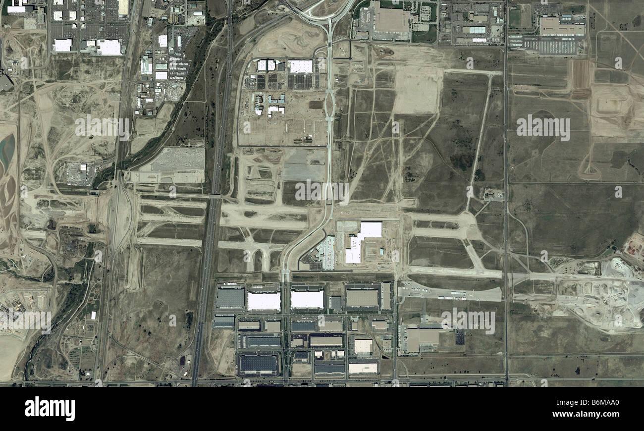 aerial map abandoned Stapleton airport Denver Colorado Stock Photo on