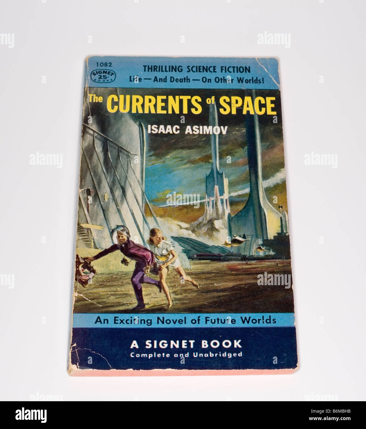 Isaac Asimov´s The Currents of Space 1953 Edition Paperback - Stock Image