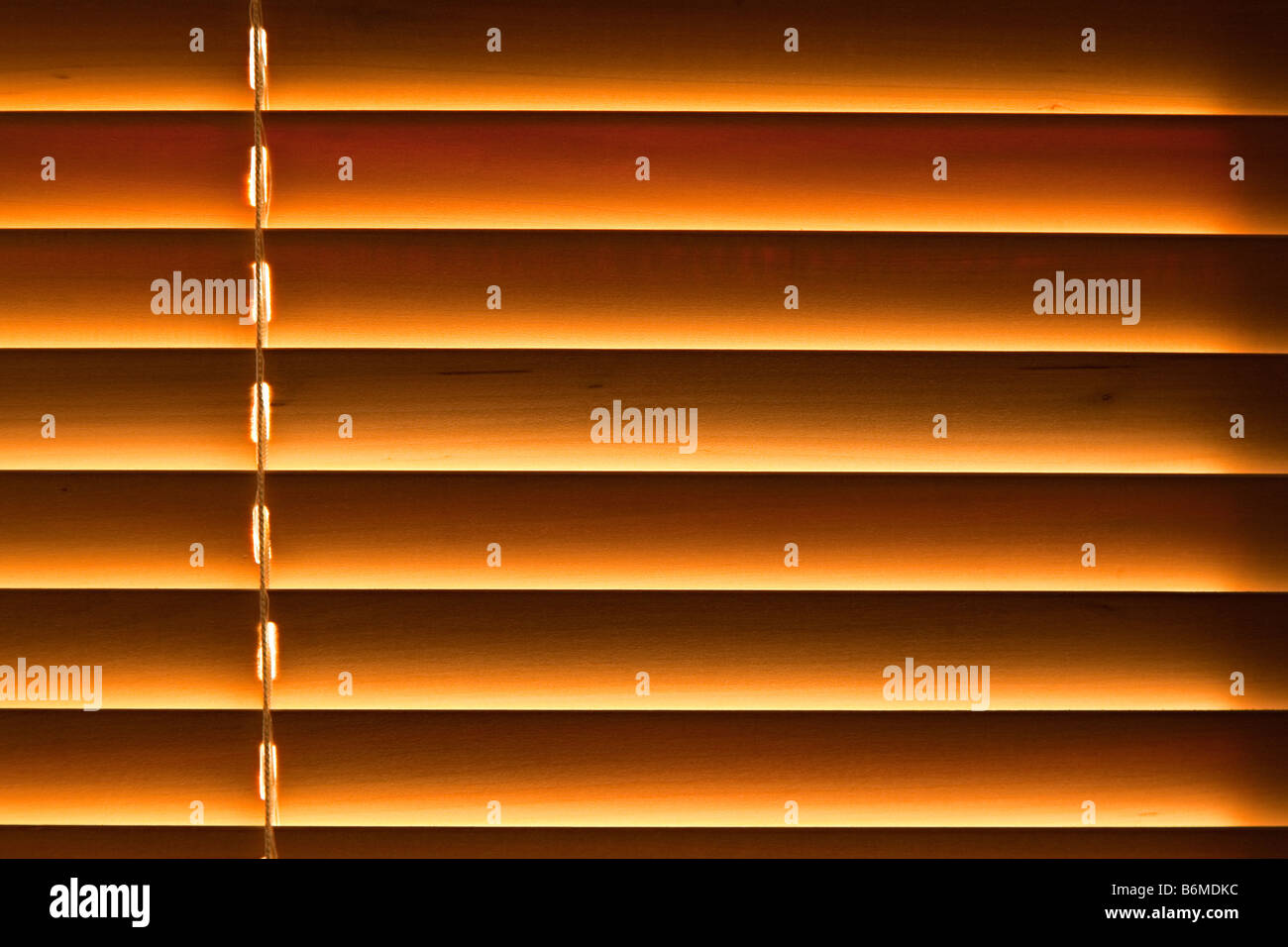 Wooden venetian blinds - Stock Image