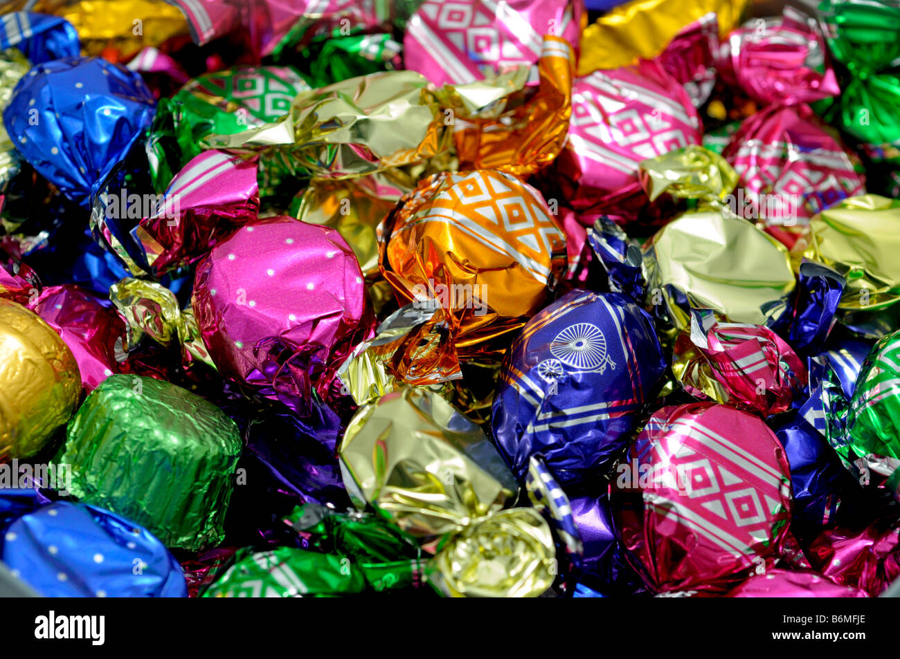 Sweets in Wrappers - Stock Image
