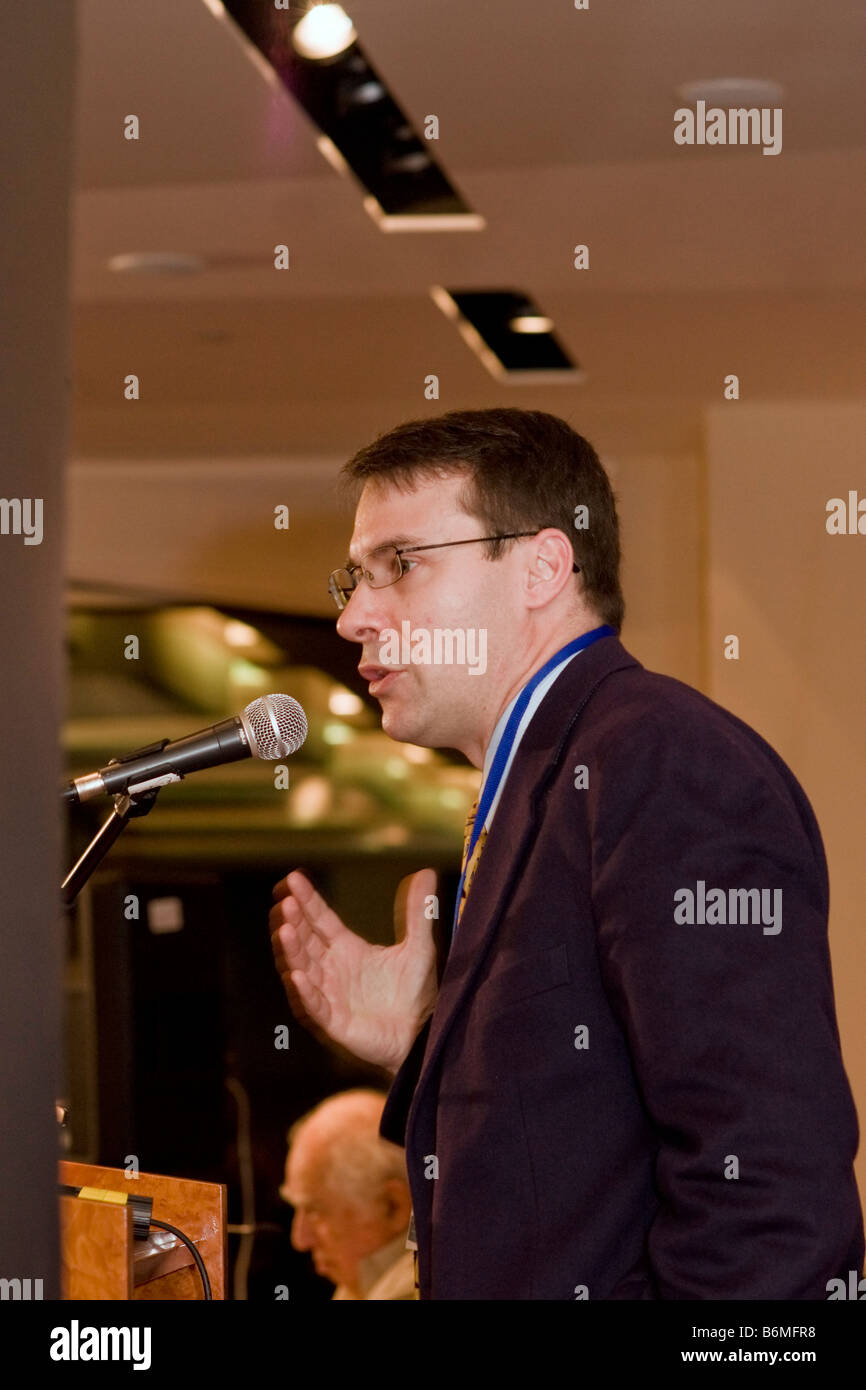 LTC (ret.) John Nagl, Fellow at the Center for New American Policy, speaks at the Adelson Institute's 2008 conference Stock Photo