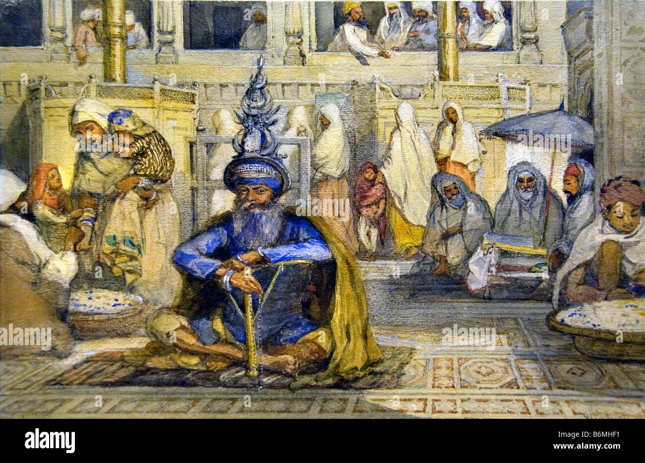 Wizard Bazaar civilians  egypt egyptian  museum - Stock Image