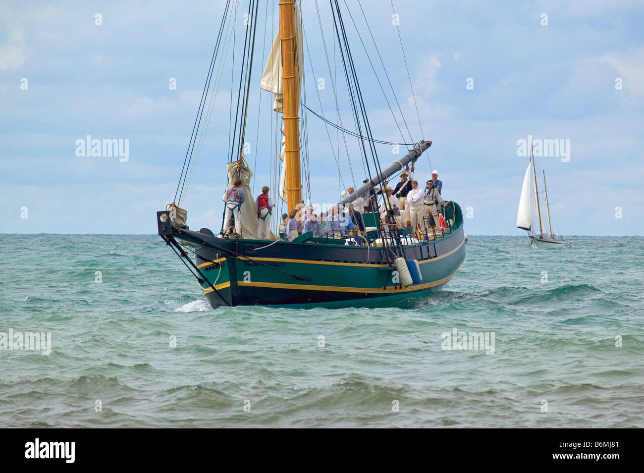 The tall ship Friends Good Will arrives at South Haven Michigan - Stock Image