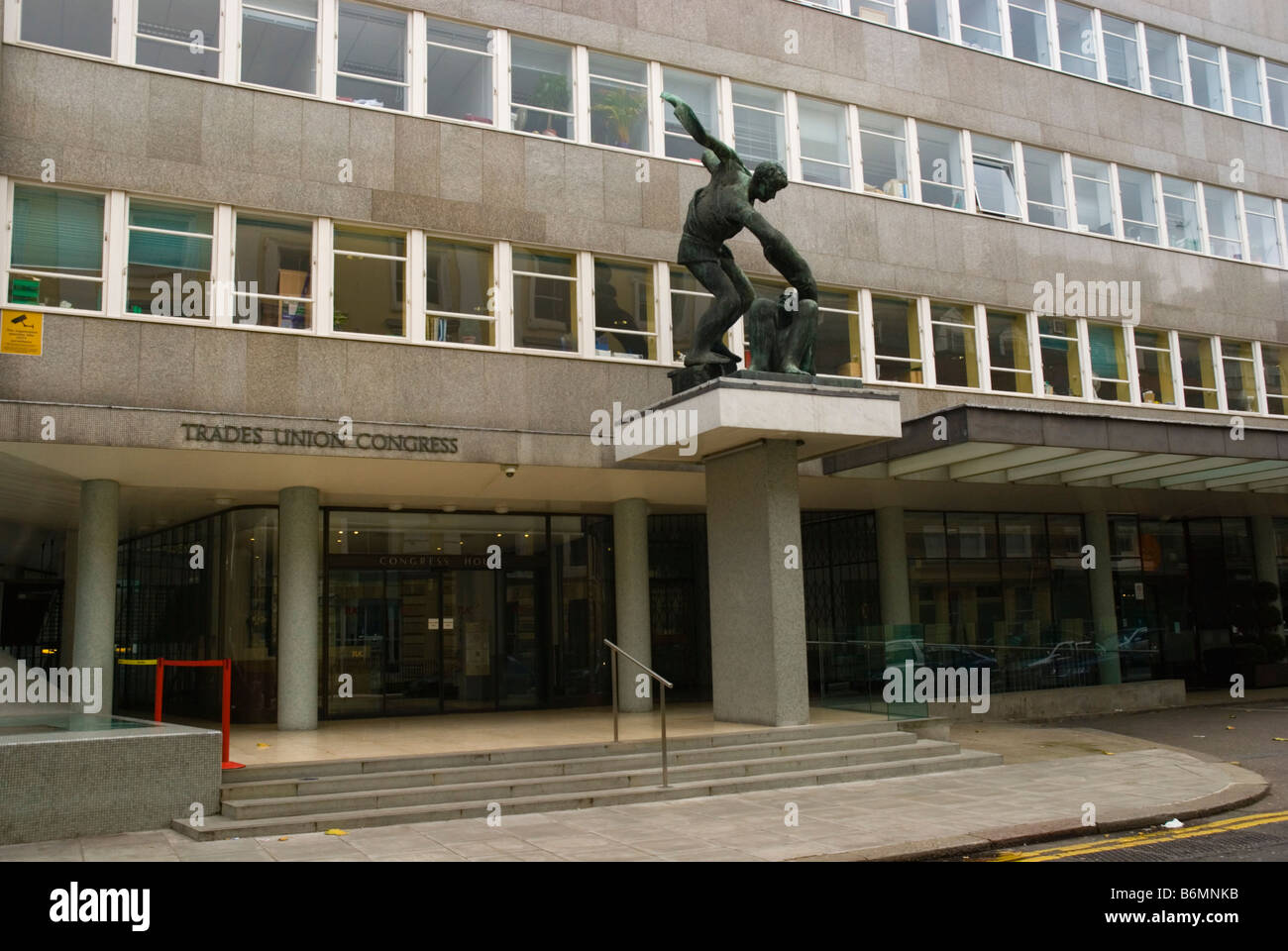 Trades Union Congress House in Bloomsbury in London England UK - Stock Image