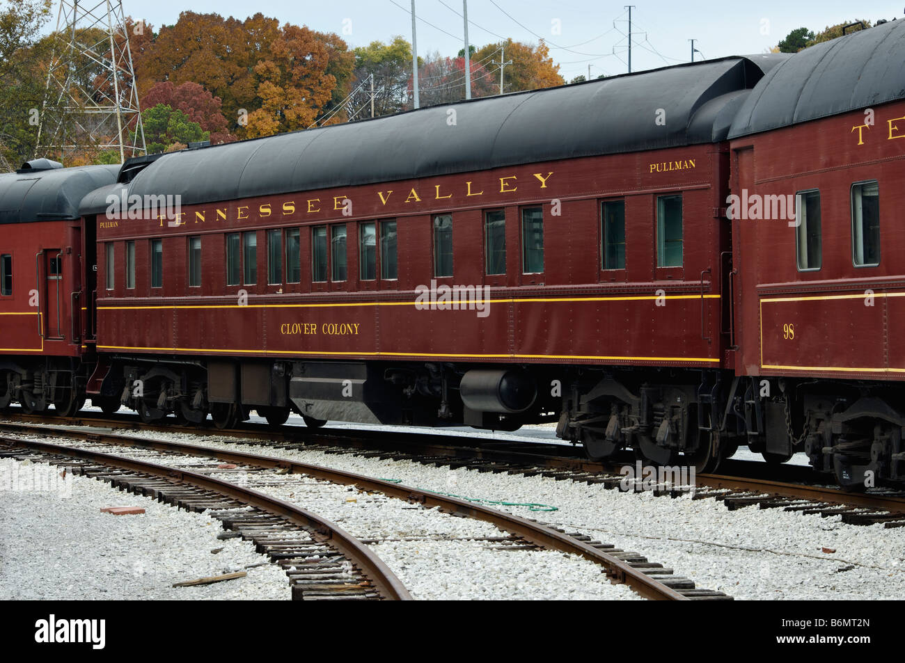 Pullman cars in train yard at the tennessee valley for Musictown motor cars tennessee