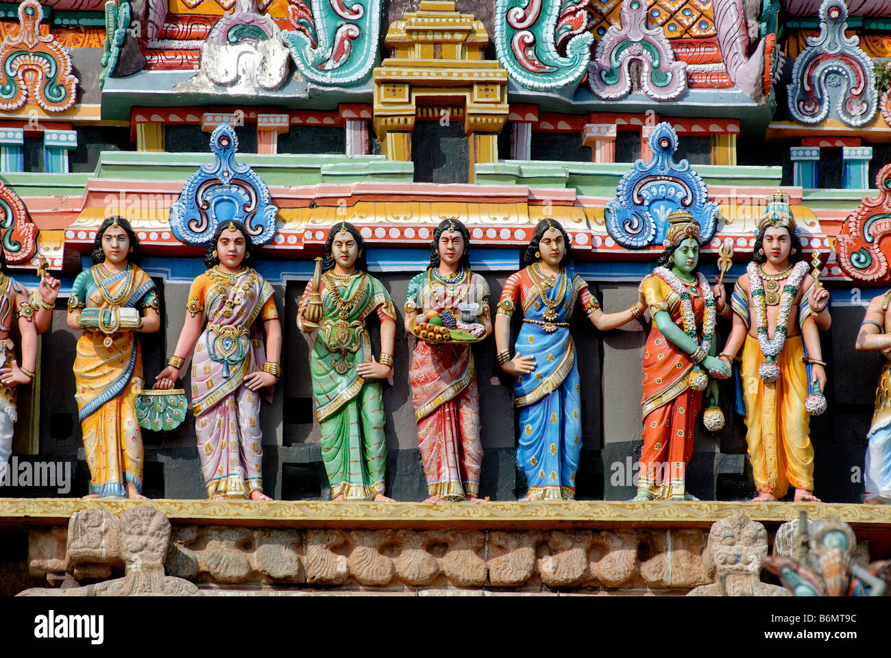 Chidambaram Temple Sculptures Stock Photos & Chidambaram Temple