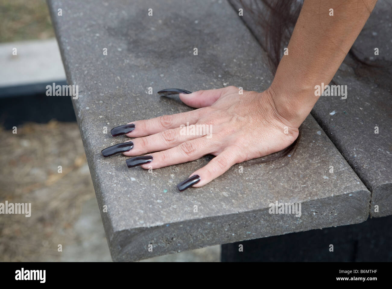 Woman Hand, long nails, finger nails, index finger, middle finger ...