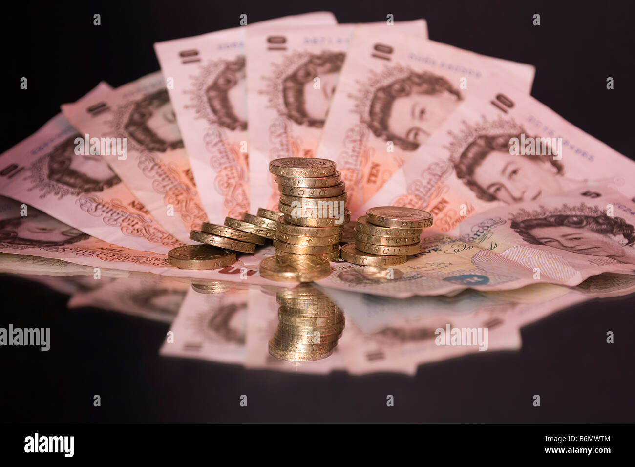 This picture is design to reflect money and the markets. - Stock Image