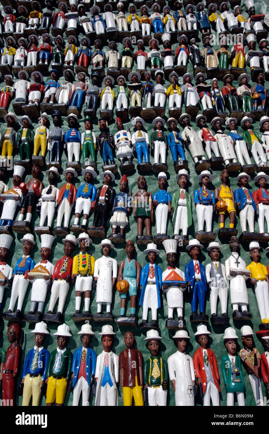 Colonial figurines for sale at Ethnic and Handicrafts market Greenpoint Capetown Capetown South Africa scenes and - Stock Image
