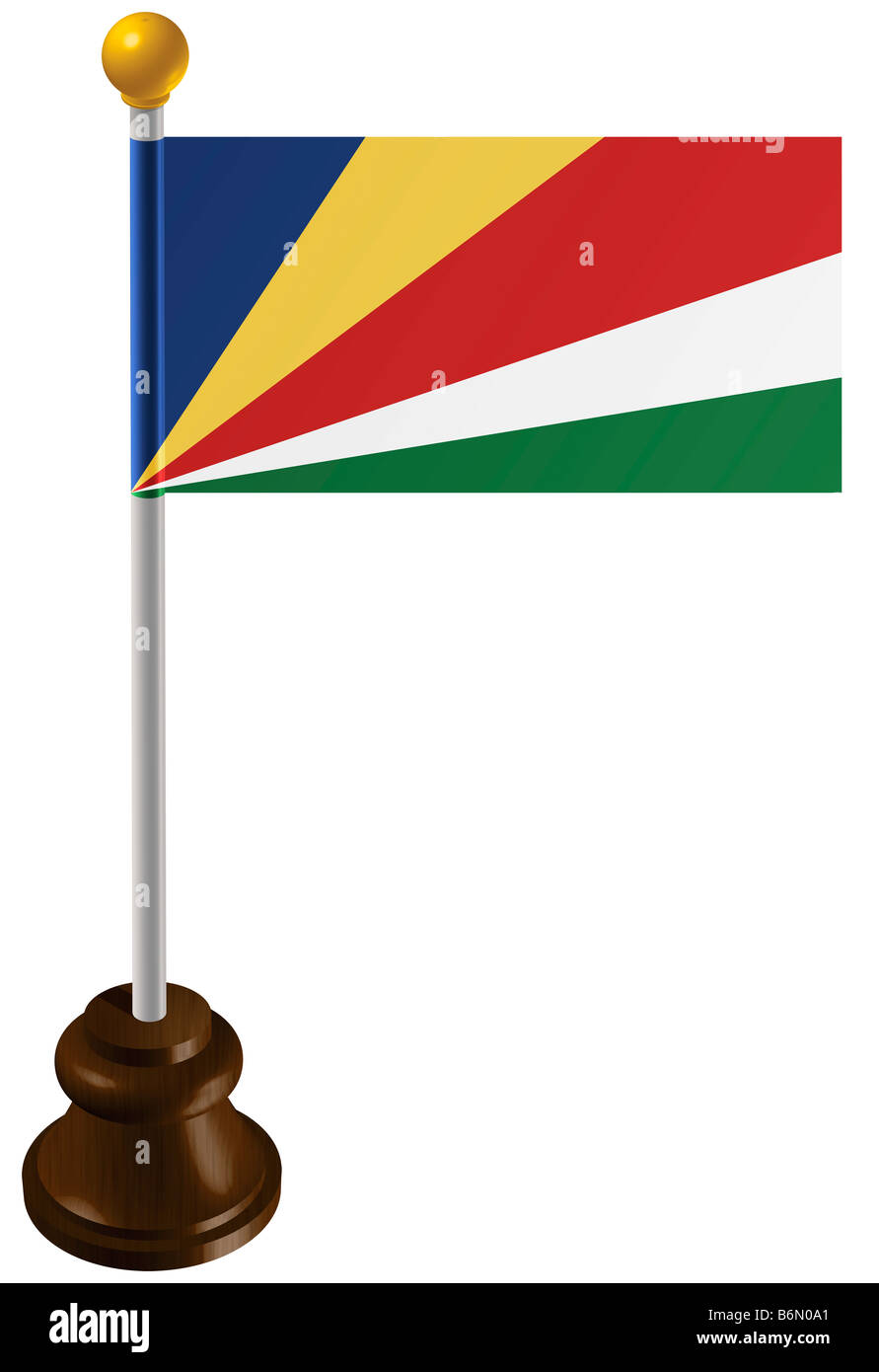 Seychelles flag as a marker - Stock Image