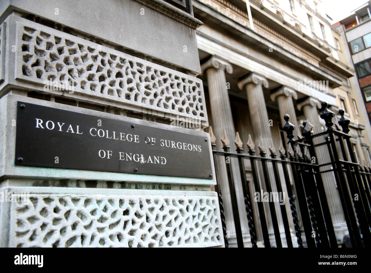 Royal College of Surgeons of England, Lincoln's Inn Fields, London - Stock Image