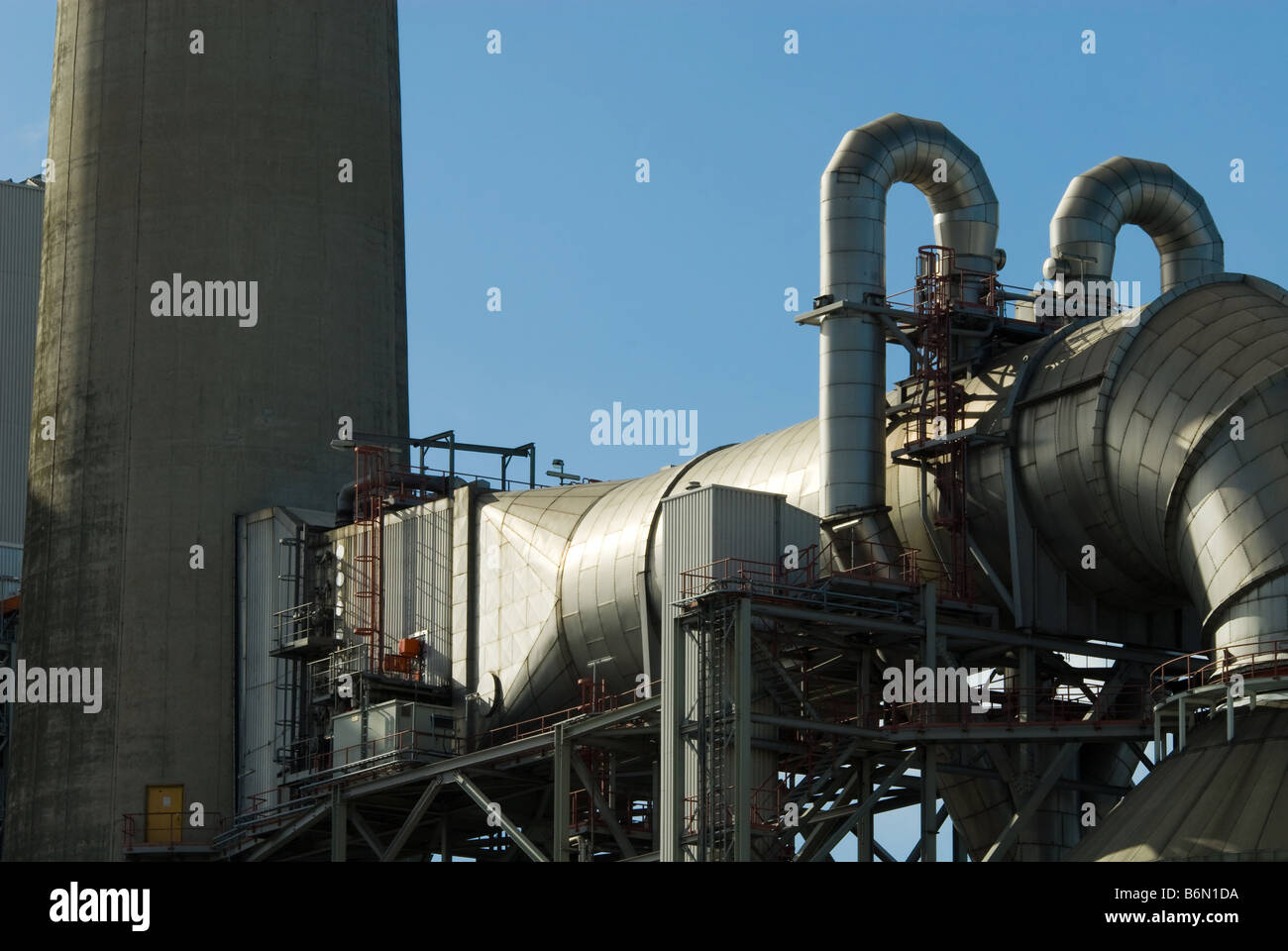 Industrial Process Plant Chimney Stock Photos & Industrial