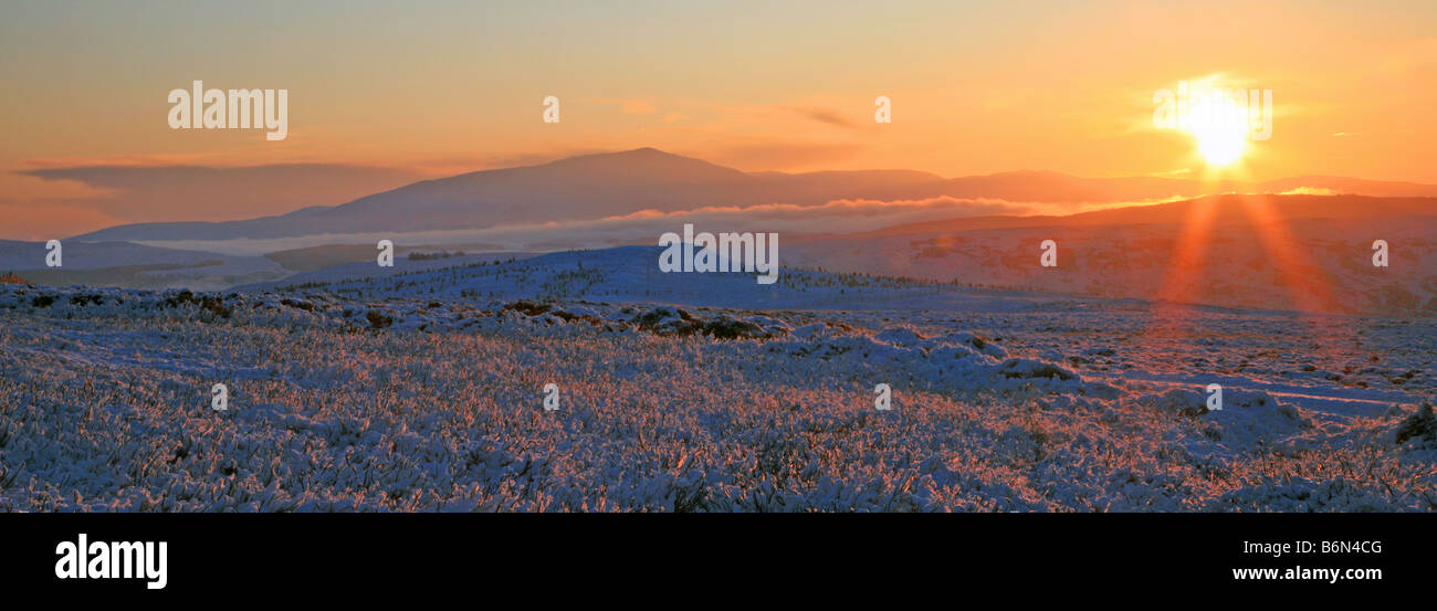 Perthshire winter sunset - Stock Image