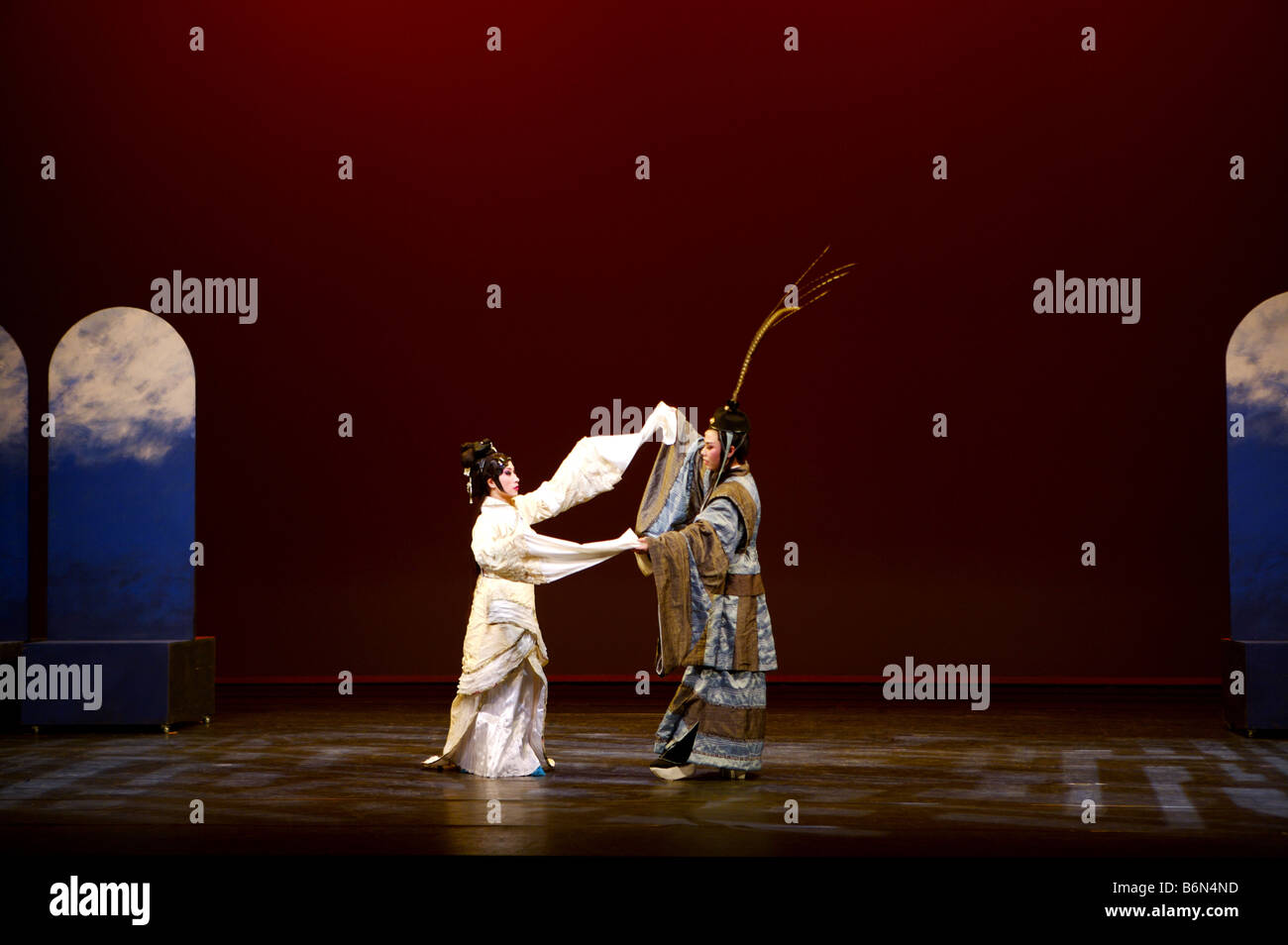 Opera performers on stage - Stock Image