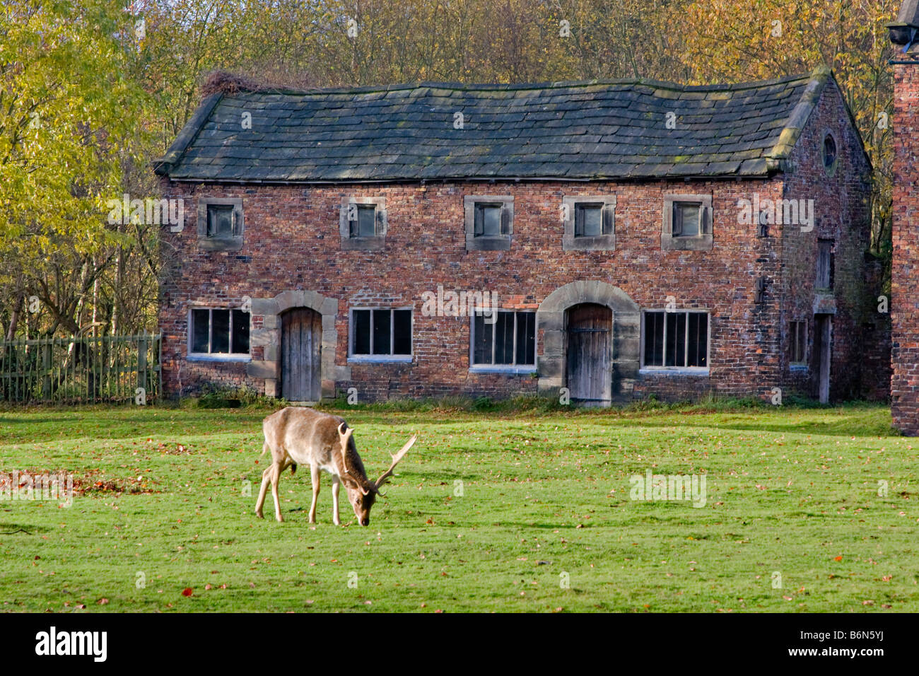 West Stables, Dunham Massey Hall and Park, Altrincham, Cheshire, built in the late 17th or early 18th century - Stock Image