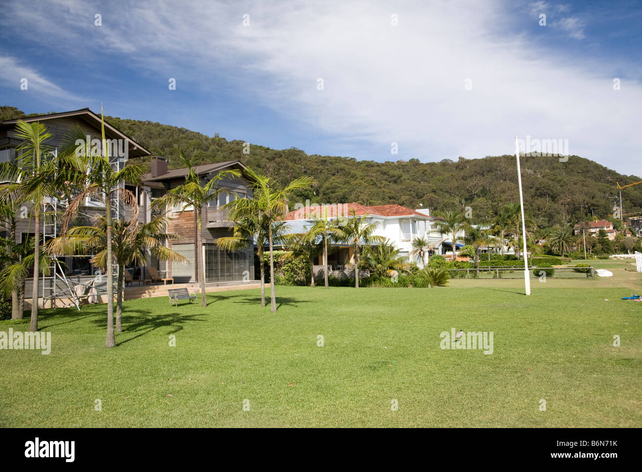 waterfront exclusive detached family property homes,palm beach,sydney,new south wales,australia - Stock Image