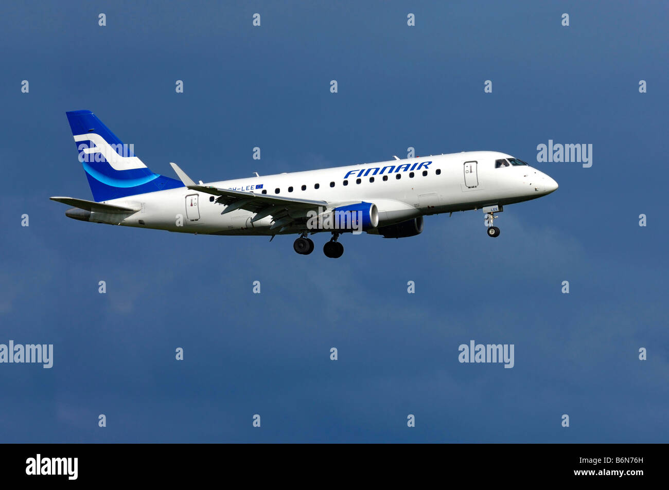 Aircraft Embraer ERJ 170LR, Registration OH LEE, Finnair - Stock Image