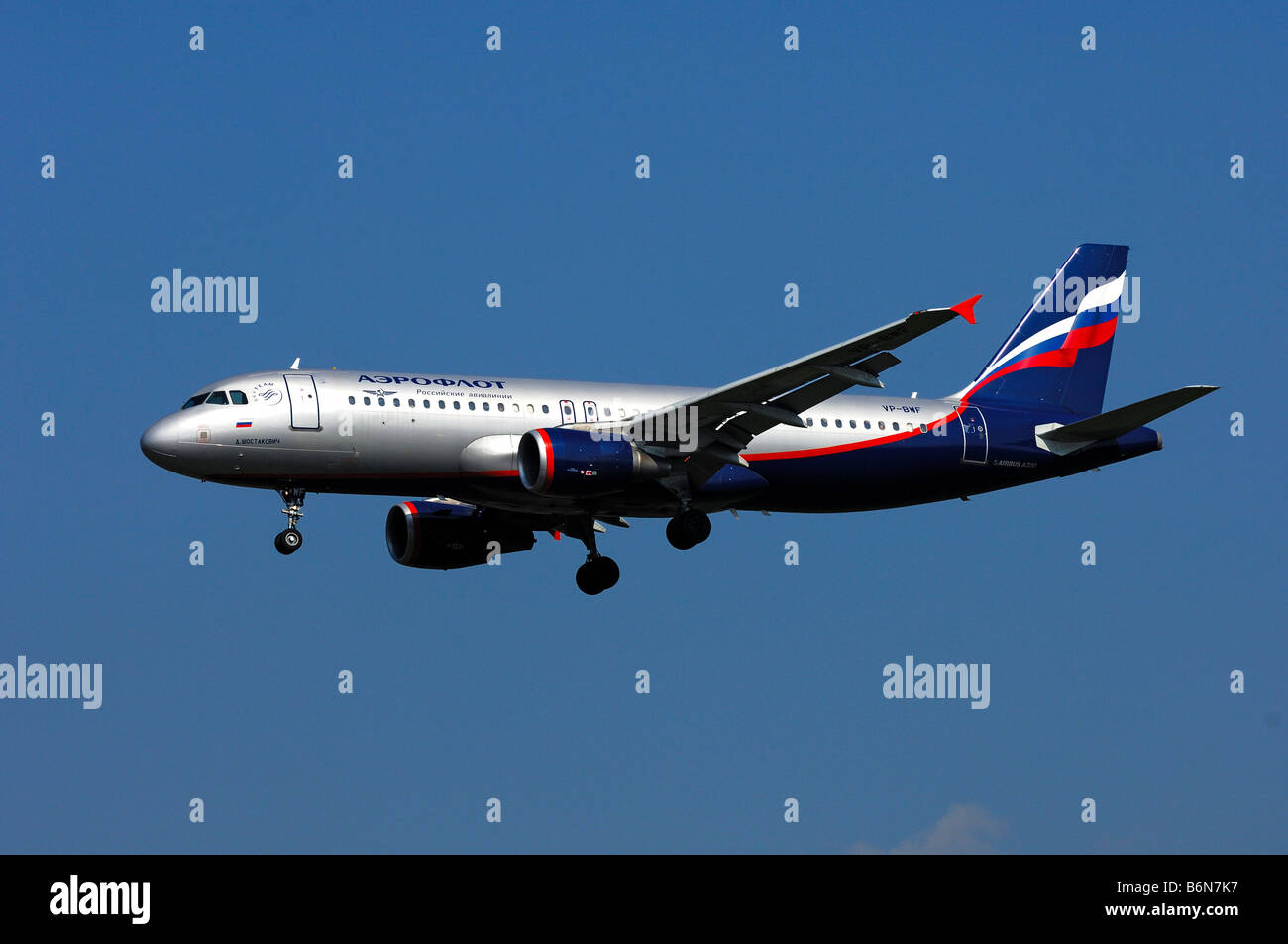Aircraft Airbus A320-214, Registration VP BWF, Aeroflot Russia, year of manufacture 2003 - Stock Image