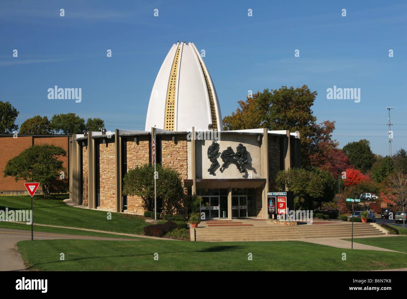 Pro Football Hall Of Fame Canton Ohio - Stock Image