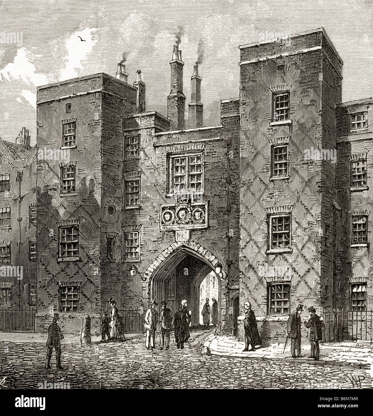 The Chancery Lane Gate of Lincolns Inn One of four Inns of Court London England - Stock Image