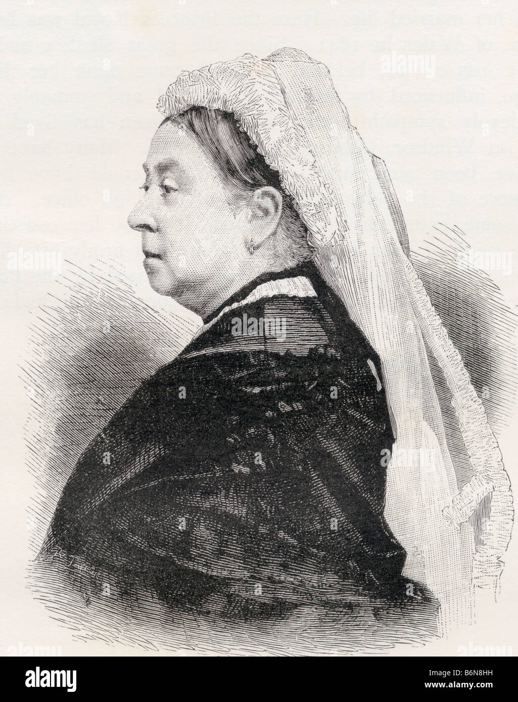 Queen Victoria 1819 - 1901 Princess Alexandrina Victoria of Saxe Coburg Queen of Great Britain and Ireland and Empress - Stock Image