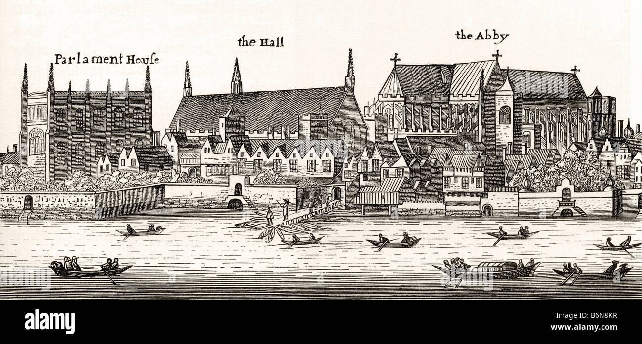 Westminster London England in 1647 - Stock Image