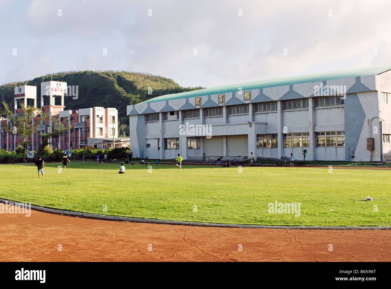 Taiwan, Green Island, Taitung County, Lyudao Junior High School - Stock Image