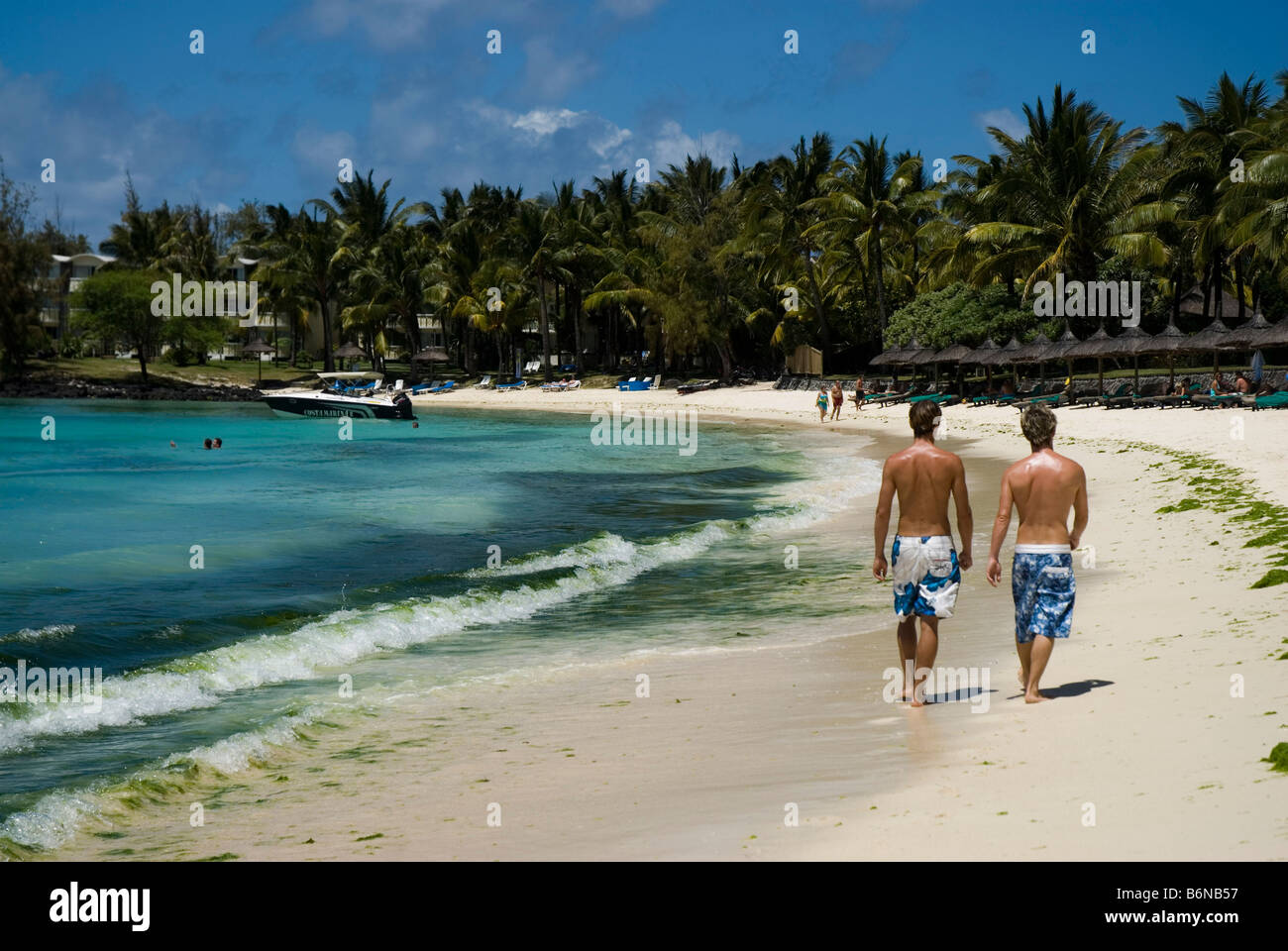 Hotel Constance Belle Mare Plage MAURITIUS ISLAND - Stock Image