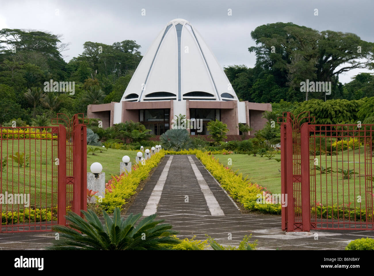 Bahai House of Worship near Apia Samoa - Stock Image