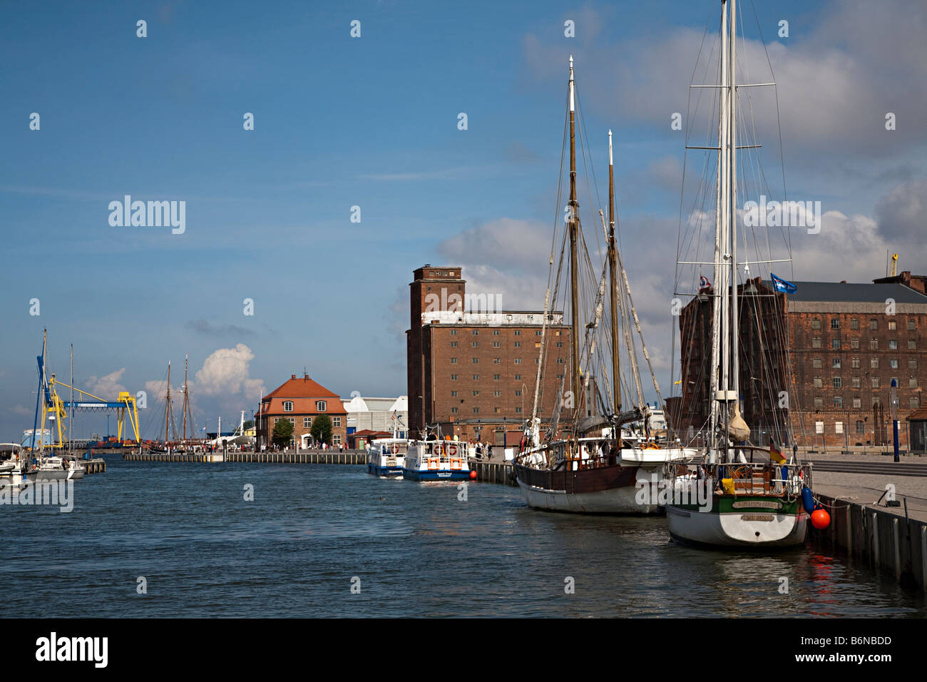 Harbour on the Baltic Sea Wismar Germany - Stock Image
